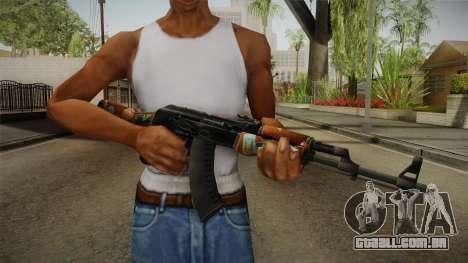 CS: GO AK-47 Jet Set Skin para GTA San Andreas terceira tela