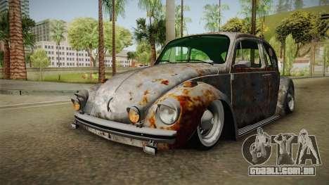Volkswagen Beetle Rusty para GTA San Andreas vista direita