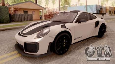 Porsche 911 GT2 RS Weissach Package SA Plate para GTA San Andreas