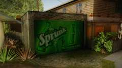 New CJ House Garage para GTA San Andreas