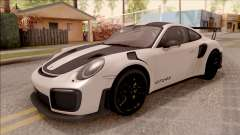 Porsche 911 GT2 RS Weissach Package SA Plate para GTA San Andreas