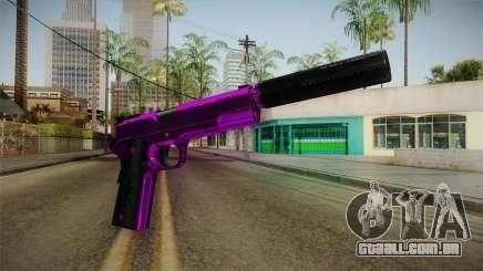 Purple Silenced Pistol para GTA San Andreas