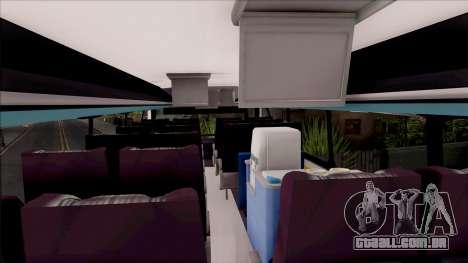 Trans El Dorado Bus para GTA San Andreas vista interior