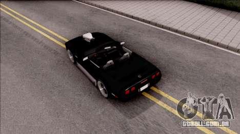 Chevrolet Corvette C4 1996 Cabrio para GTA San Andreas vista traseira