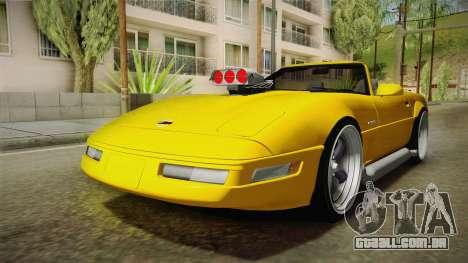 Chevrolet Corvette C4 Cabrio 1996 para GTA San Andreas traseira esquerda vista