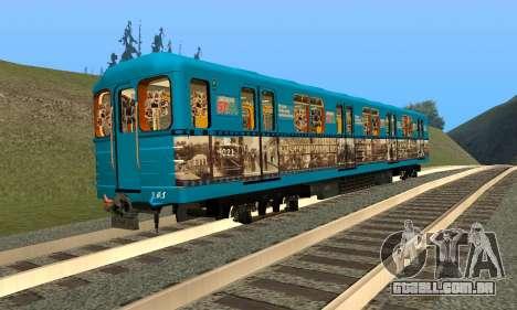 Um Histórico Do Carro Do Metrô para GTA San Andreas