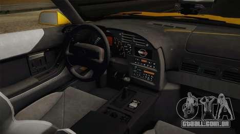 Chevrolet Corvette C4 Cabrio 1996 para vista lateral GTA San Andreas