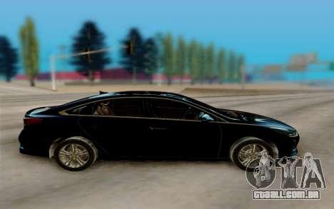 Hyundai Sonata 2018 para GTA San Andreas esquerda vista
