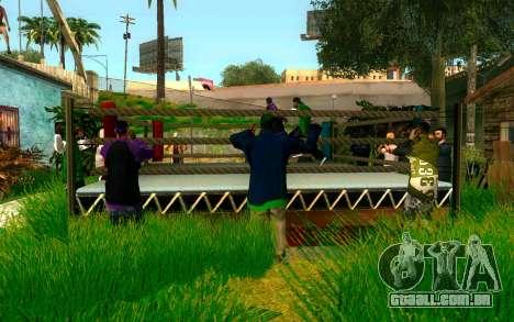 O torneio de Boxe no Grove ST para GTA San Andreas terceira tela