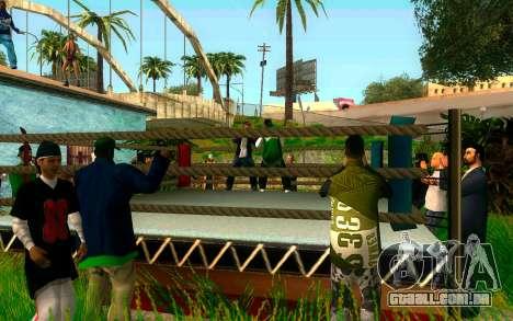 O torneio de Boxe no Grove ST para GTA San Andreas por diante tela