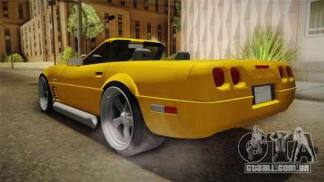 Chevrolet Corvette C4 Cabrio 1996 para GTA San Andreas vista direita