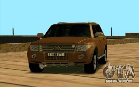 Mitsubishi Pajero Azeri para GTA San Andreas esquerda vista