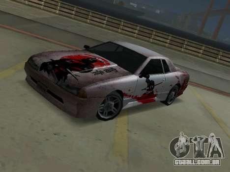 New Elegy Paintjob Samurai para GTA San Andreas esquerda vista