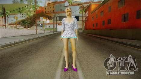 Marie Rose Skin in White Dress para GTA San Andreas