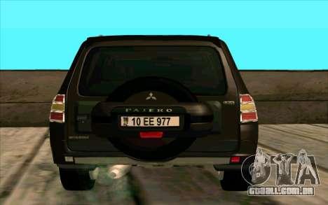Mitsubishi Pajero Azeri para GTA San Andreas vista direita