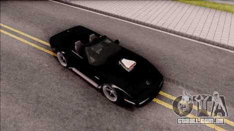 Chevrolet Corvette C4 1996 Cabrio para GTA San Andreas vista direita