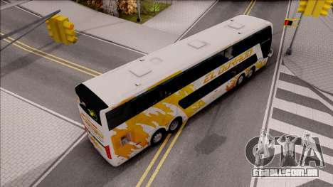 Trans El Dorado Bus para GTA San Andreas vista traseira