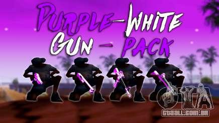 Furta-Cor-De-Rosa E Branco Pack De Armas para GTA San Andreas