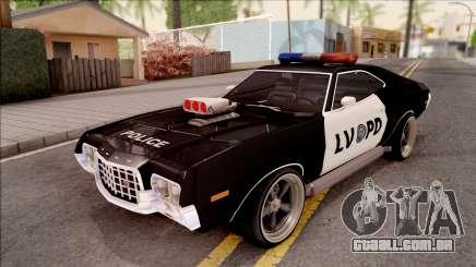 Ford Gran Torino Police LVPD 1972 v4 para GTA San Andreas