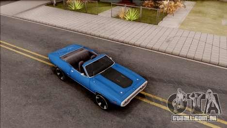 Plymouth GTX Cabrio 1972 para GTA San Andreas vista direita