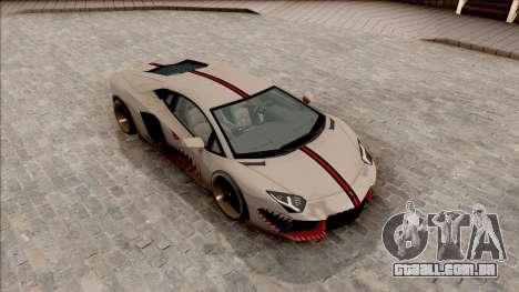 Lamborghini Aventador Shark New Edition White para GTA San Andreas vista direita