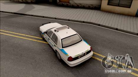 Ford Crown Victoria 2007 Altoona PD para GTA San Andreas vista traseira