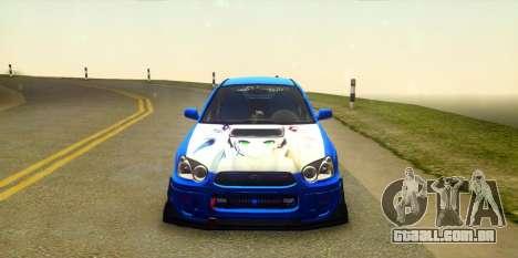 Subaru Impreza WRX STi 2004 (Virtual Diva) para GTA San Andreas vista traseira