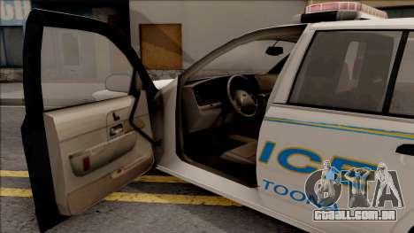 Ford Crown Victoria 2007 Altoona PD para GTA San Andreas vista interior