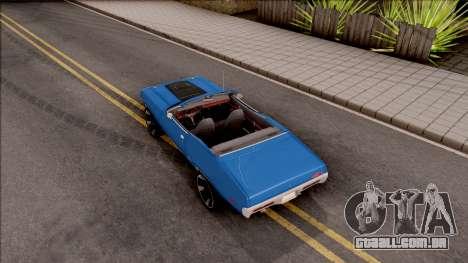 Plymouth GTX Cabrio 1972 para GTA San Andreas vista traseira
