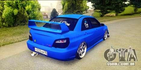 Subaru Impreza WRX STi 2004 (Virtual Diva) para GTA San Andreas esquerda vista