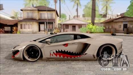 Lamborghini Aventador Shark New Edition White para GTA San Andreas esquerda vista
