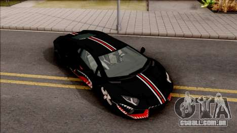 Lamborghini Aventador Shark New Edition Black para GTA San Andreas vista direita