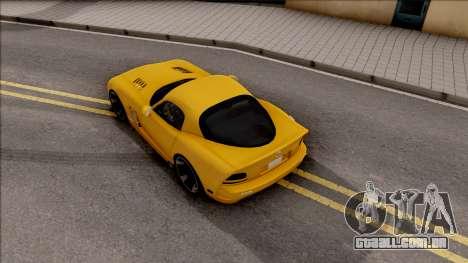 Dodge Viper SRT-10 para GTA San Andreas vista traseira