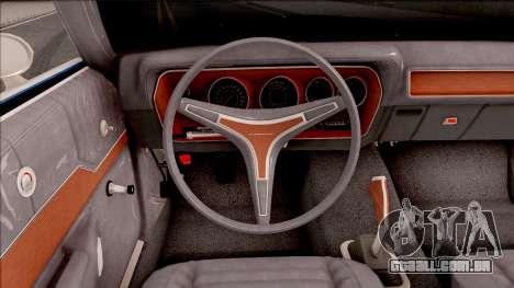 Plymouth GTX Cabrio 1972 para GTA San Andreas vista interior