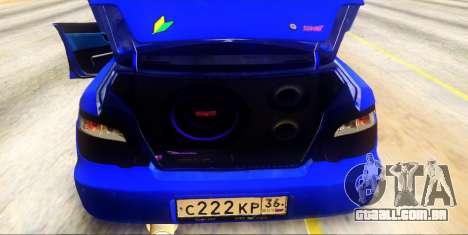 Subaru Impreza WRX STi 2004 (Virtual Diva) para GTA San Andreas vista interior