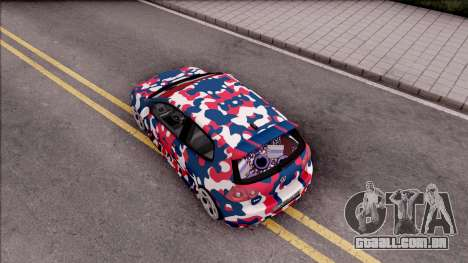 Volkswagen Golf BK GARAGE para GTA San Andreas vista traseira