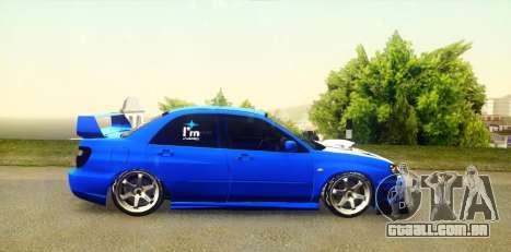 Subaru Impreza WRX STi 2004 (Virtual Diva) para GTA San Andreas vista direita