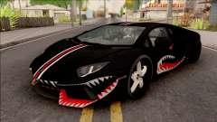 Lamborghini Aventador Shark New Edition Black