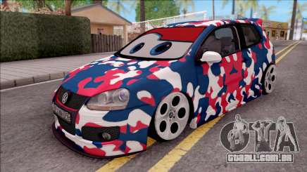 Volkswagen Golf BK GARAGE para GTA San Andreas