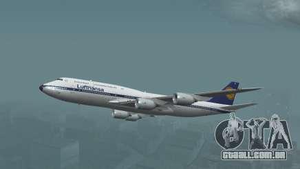 A Lufthansa boeing 747-8i Decoração Retro para GTA San Andreas
