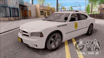 Dodge Charger Silver 2007 Iowa State Patrol para GTA San Andreas