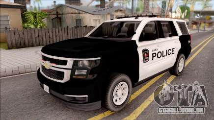 Chevrolet Tahoe 2015 Area Police Department para GTA San Andreas