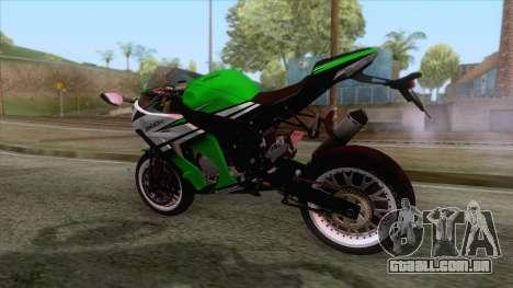 Kawasaki Ninja ZX-10R Ruff Ryder para GTA San Andreas esquerda vista