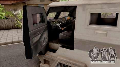 GTA EFLC HVY Brickade para GTA San Andreas vista interior