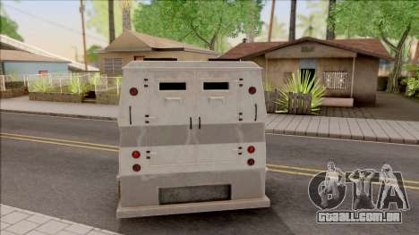 GTA EFLC HVY Brickade para GTA San Andreas traseira esquerda vista