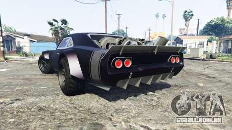 GTA 5 Dodge Charger Fast & Furious 8 [replace] traseira vista lateral esquerda