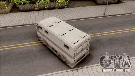 GTA EFLC HVY Brickade para GTA San Andreas vista traseira