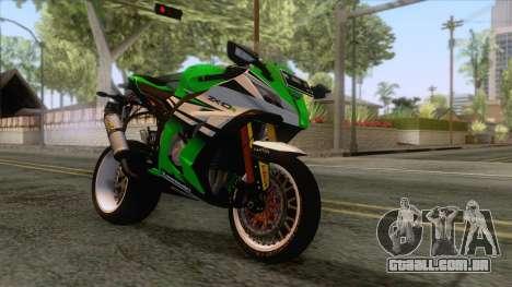 Kawasaki Ninja ZX-10R Ruff Ryder para GTA San Andreas traseira esquerda vista
