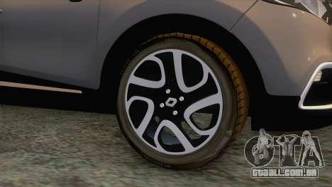 Renault Captur para GTA San Andreas vista traseira