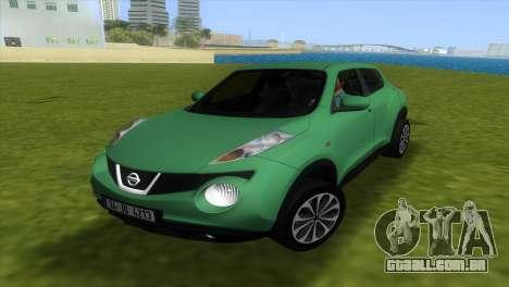 Nissan Juke para GTA Vice City vista traseira esquerda